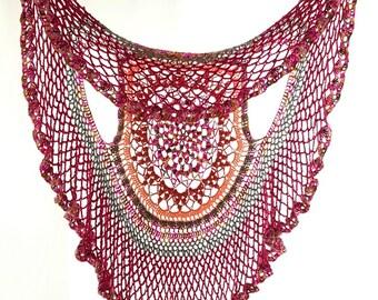 Crochet Circle Vest, Crochet Mandala Vest, Circular Vest, Circle Vest, Hippie Vest, Crochet Boho Vest, Lotus Mandala Vest, Multicolor Vest