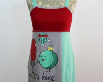 Let's Hang Upcycled Cotton Dress, size 0-2