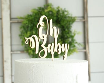 Oh Baby Cake Topper Baby Shower Cake Topper