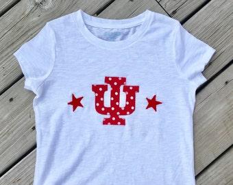 Indiana University Girl's/Toddler Shirt or indiana bodysuit