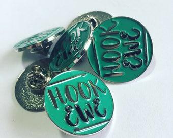 Hook Ewe Logo Enamel Pin