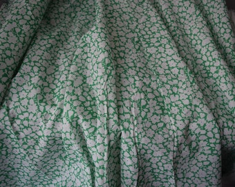 Cotton lawn floral fabric, 58 inches wide, 1 yard