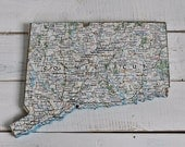 CONNECTICUT State Map Wall Decor | Vintage National Geographic Map | Gallery Wall | Mini Size