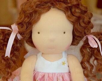 Waldorf doll- Steiner doll- handmade doll- cloth doll- fibre art dolls- waldorf toy by Debs Steiner Dolls. DEPOSIT for April'17 custom doll