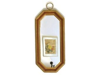 Vintage Wall Mirror, Gold Octagon Mirror, Wood Framed Mirror, Turner Wall Accessory