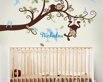 Wall decals, Monkeys on branch