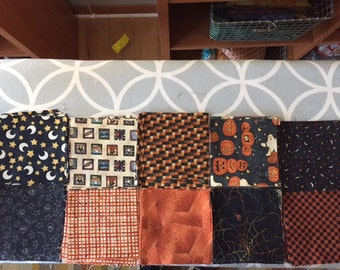 Halloween Fabric Kit for Wall Hanging or Lap Quilt or Table Runner
