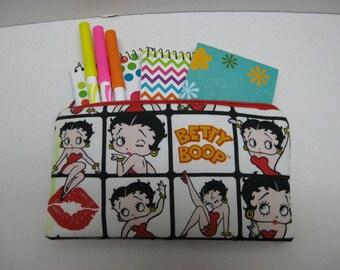 Betty  Boop Zipper Pencil Case Or Cosmetic case