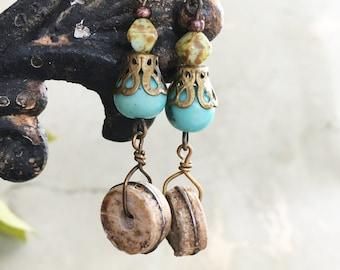 E002 BLUE TRIBAL Earrings