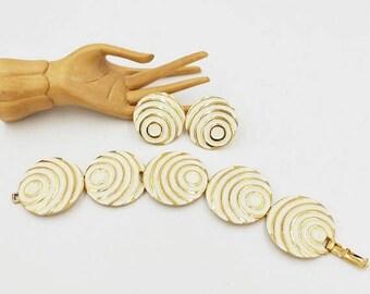 Vendome Bracelet and Earring Set Geometric Circles