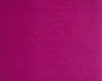 Dark Pink Solid Color Fabric, Polyester/Cotton Blend, 1 yard cut