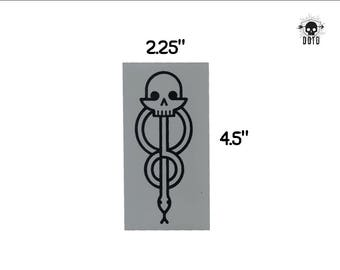 hp dark mark death eater symbol sticker opaque decal fun fandom bumper sticker laptop decal