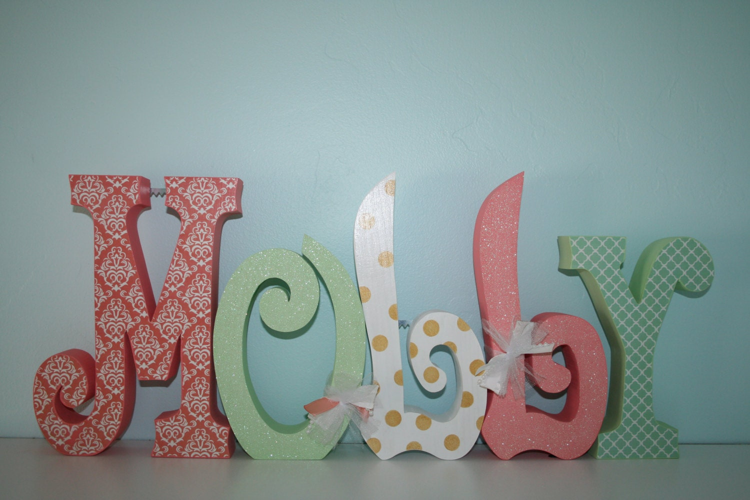 Baby name letters nursery decor nursery letters 5 letter for Decoration 5 letters