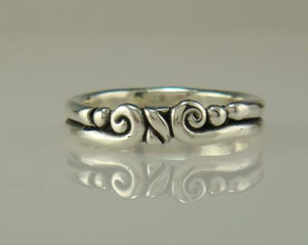R994-Sterling Silver Band- One of a Kind