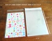 """Cello Bags - Self Seal Bags - Resealable Cello Bags 4.75"""" x 6.5"""" Set of 50"""