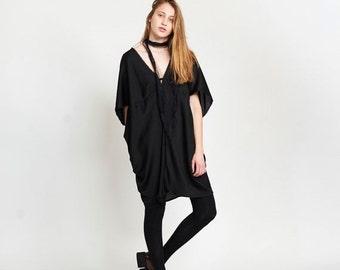 Pre Winter Sale 15% Lotus Dress, Black.