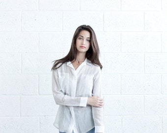 Christmas Sale Buttoned Eyelet Shirt