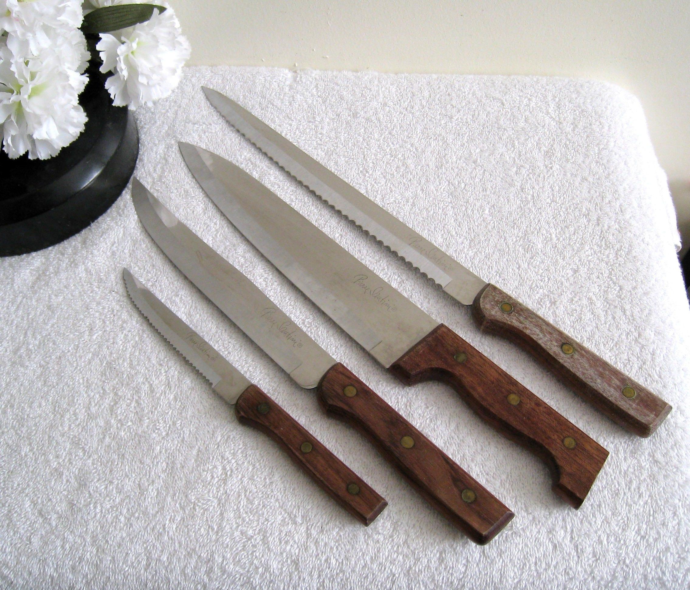 Vintage PIERRE SANTINI Kitchen Knives / Steak Knife Bread