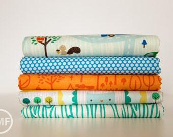 Scenic Route Ocean Palette Fat Quarter Bundle , 5 Pieces, Deena Rutter, Riley Blake Designs, 100% Cotton Fabric, C3660
