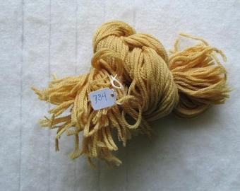 Paternayan wool Yarn 1/8 (2OZ) Hank Color 734 Honey Gold