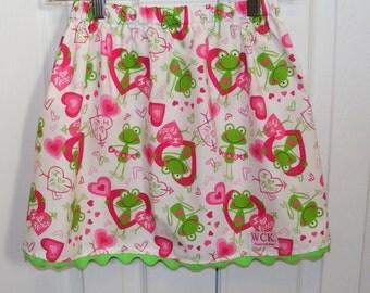 I love frogs   skirt  (2T, 3T, 4T, 5, 6, 7)