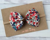Liberty of London Floral {MILLIE} Bow - Nylon Headband - Spring + Summer 2017 - Wiltshire