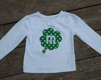 Girl's Toddlers Personalized St Patrick's Day Shamrock Shirt