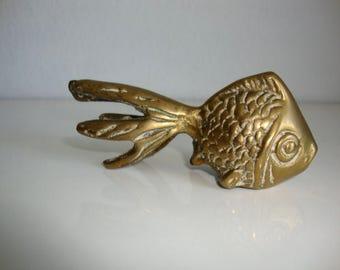 Brass Fish,  Brass Goldfish, Brass Koi, Brass Paperweight