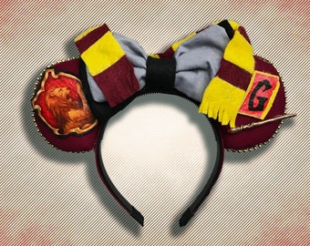 Gryffindor Mouse Ears w/ Bow