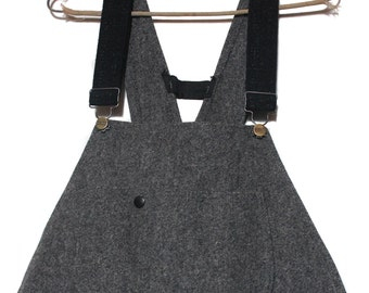 MED    L.L. Bean Wool Overalls