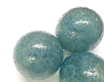 Glass Ball Christmas Ornament Suncatcher, Holiday Decor, Tree Decorations,Dreamy Blue