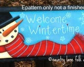 EPATTERN 0061 Welcome wintertime, digital download, paint your own, decorative painting, tole painting, painting pattern