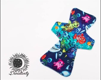 Reusable Cloth Pad || Cloth Menstrual Pad || Finding Nemo || Moderate Flow || Period Pads || Super Absorbent || Organic Bamboo Fleece