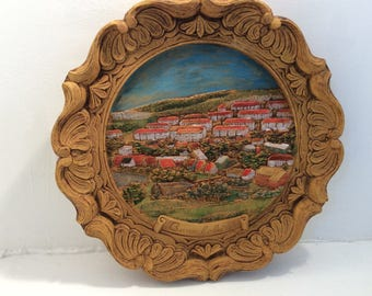 Baumholder Germany, vintage plaque, plate, wall decor