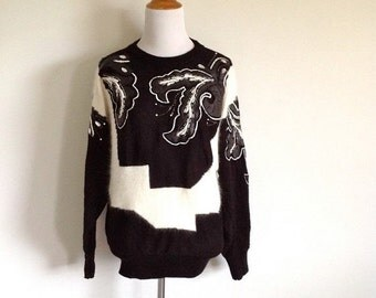 Items Similar To Hand Knit Long Sweater Tunic Cable
