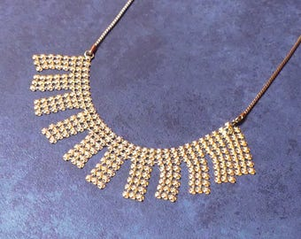 Vintage Retro Gold Mesh Necklace