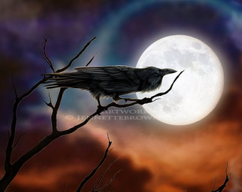 The Raven Fantasy Artwork Prints and Posters