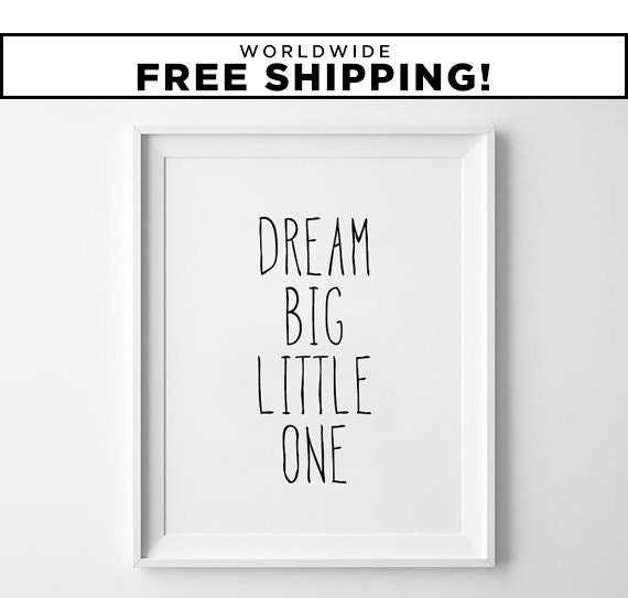 Black And White Nursery Wall Decor : Nursery wall art kids room decor black and white by