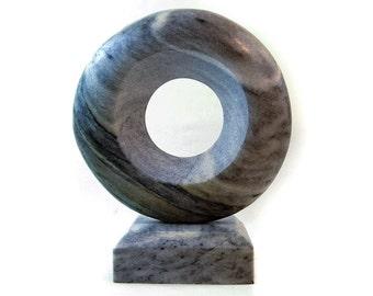 Zen art, abstract marble sculpture, stone sculpture, gifts for men, home decor, table top sculpture, stone carving, abstract stone carving