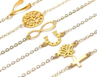 Charm Bracelet - Gold Bracelet - Friendship Bracelet - Silver Bracelet