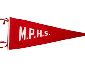 MPHS Vintage Felt Flag
