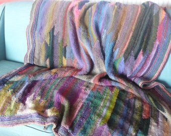 Kaffe Fassett inspired blanket ikat design....various sizes