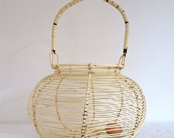 ON SALE for a week JUMBO French Vintage shabby chic real egg basket wire French Country farmhouse - french Kitchen