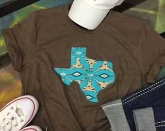 State of Texas Baseball tee shirt short sleeve Shirt T-shirt western print