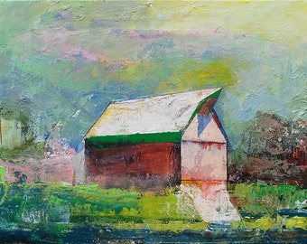 Barn62, landscape painting,  original painting, oil painting, 11 x 14, barn painting