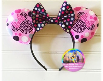 Minnie Mouse Pink Polka Dots Mouse Ears!!