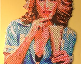 Shelly's Milkshake | Twin Peaks Portrait #7 | Perler Beads | Twin Peaks Art