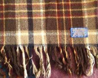 Vintage Pendleton Wool Lap Blanket, Throw