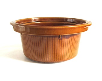 Rival Crock Pot Replacement Part 3154 Stoneware Crockpot Insert Brown