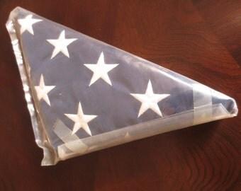 Vintage USS Arizona Memorial American Flag Flown coa 1982 USA Militaria Pearl Harbor Battleship WWII Pacific National Monument Collectible